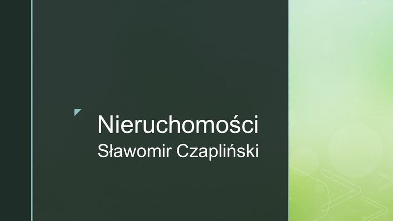 Nieruchomości Sławomir Czapliński